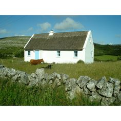 Irish Cottages- western Ireland Slide for more in this category. ($15) ❤ liked on Polyvore featuring home and home decor