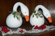 painted gourds ideas | ... View topic - ... Dry Gourds + Picture Connie's Painted Gourd Geese