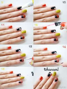 O Fantástico Mundo de Jess: Foto tutorial: mickey mouse nail art