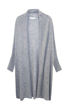 "Cashmere Cocoon Shawl Jacket in Light Grey ""Favorites"