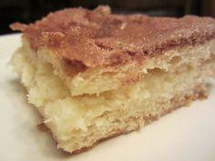 pearls bars... easy desert with crescent rolls, cream cheese, egg, sugar, vanilla & cinnamon
