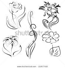 line drawing flower simple - Google Search