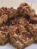Brittle Blondies  Made with homemade pecan brittle, won the Brownie Bake contest at the 2009 State Fair of Texas