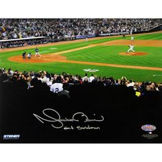 Mariano Rivera 2013 Career Final Pitch At Yankee Stadium Signed 8x10 Photo wExit Sandman Insc