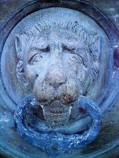 A Morose Lion Door Knocker (Floriana) by scottnoskills., via Flickr