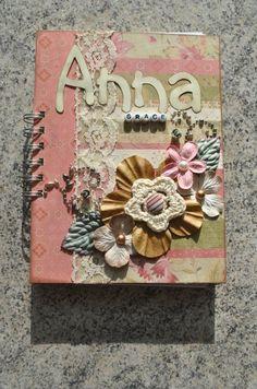 Handmade baby book / scrapbook!!  #scrapbook  #babybook  #journaling  #notes  #baby