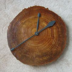 Wood wall clock.