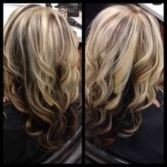 Honey blonde with  mocha brown underlay.