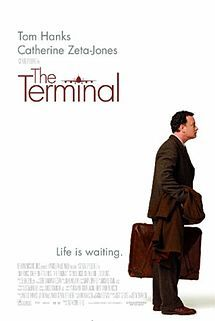 The Terminal is a 2004 American comedy-drama film directed by Steven Spielberg and starring Tom Hanks and Catherine Zeta-Jones. It is about a man trapped in a terminal at New York's John F. Kennedy International Airport when he is denied entry into the United States and at the same time cannot return to his native country, the fictitious Krakozhia, due to a revolution.