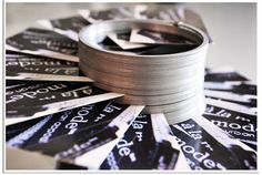 A Slinky dispenses your business cards (makes them more likely to be plucked up!) Just another WOM idea (what's WOM? http://TGtbT.com/dictionary.htm )