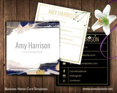 Abstract art Name Card Template, black blue golden name card, calling cards, DIY business cards, EASY to Edit and Print at Home #PhotographyCard #NameCard #CustomizableCard #CallingCard #CustomiseTemplate #CuteBusinessCard #NameCardTemplate #BusinessCard #BusinessTemplate #PsdBusinessCard