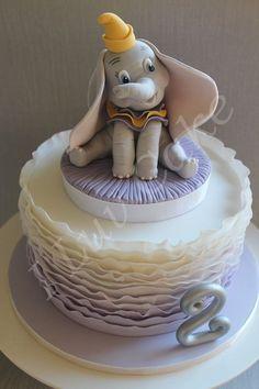 Custom designed Dumbo Cake by I Luv Cake https://www.facebook.com/Iluvcakebycharissestokes
