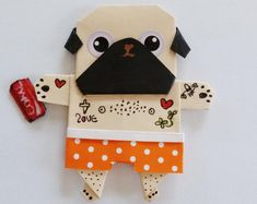 """Explore our website for more relevant information on """"fawn pug"""". It is a superb place to learn more. The Pug, Origami Dog, Origami Folding, Dog Crafts, Diy And Crafts, Chinese Pug, Dog Vitamins, Espanto, Emergency Vet"""