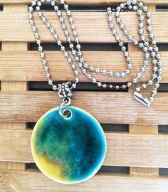 Handmade Ceramic Round Necklace by VanilyaCeramics on Etsy