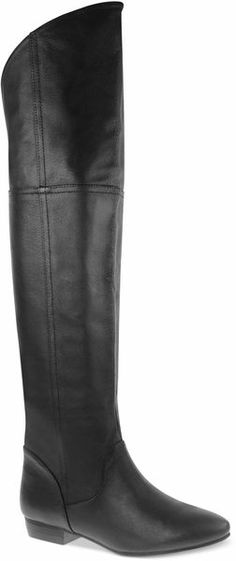 """South Bay Over the knee Boots - Lyst  Chinese Laundry Black South Bay Over the knee Boots   This sexy over-the-knee style goes the distance thanks to the small heel. The south bay boots by chinese laundry. Imported. Leather upper. Round closed-toe over-the-knee boots. Shaft: 14"""" height, 18"""" circumference. 1"""" heel. Man-made sole. Please note: shaft height and circumference may vary by size."""