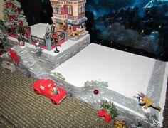 Christmas-Village-Display-BiG-STAIRCASE-platform-base-28x12-Dept-56-Dickens