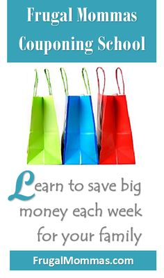 Frugal Mommas Couponing School where you will learn to save BIG money each week for your family! We'll take you step by step through learning the tricks of the trade & you'll be a pro in no time flat!