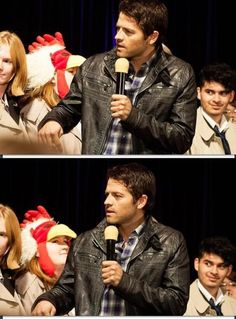 Misha judging cosplayers #ChiCon
