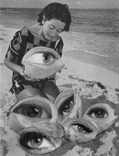 Eye eye eye! Magie Bilder, Psychedelic Art, Eyes Artwork, Collage Artwork, Collage Ideas, Art Lessons, Mixed Media Collage, Surrealist Collage, Trippy