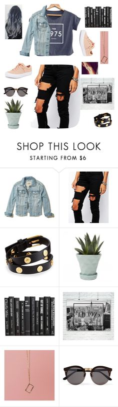 """Somebody Else"" by bellhof ❤ liked on Polyvore featuring Hollister Co., Liquor n Poker, Tory Burch, Chive, Illesteva and Converse"