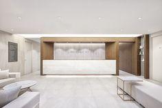 Clinic Interior Design, Lobby Interior, Interior Design Boards, Clinic Design, Interior Architecture, Reception Counter Design, Office Reception Design, Pharmacy Design, Lobby Design