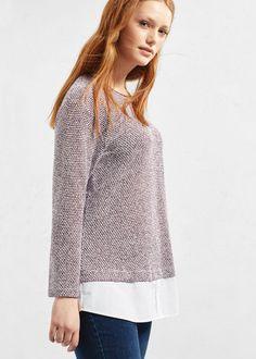 Textured cotton-blend sweatshirt | VIOLETA BY MANGO