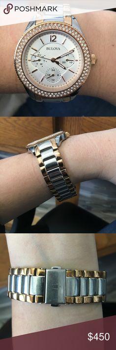 Beautiful Bulova Woman's Watch Beautiful Authentic Bulova Woman's Watch - LIKE NEW (I purchased lifetime warranty on the watch) Bulova Accessories Watches