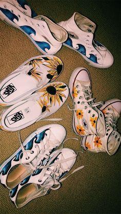c314daf6ac8  allstar  converse  vans  shoes Painted Shoes