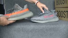 Yeezy Boost 350 V2 Buluga 2.0 VS 1.0 Comparison HD Review from aj23shoes...