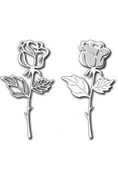 Frantic Stamper - Long Stem Rose.....currently out of stock (available for back order)
