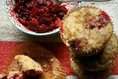 Cranberry-Orange Muffins with 7-Minute Marmalade