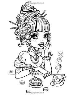 Tattoo Darlings: An Inky Girls Coloring Book: Hannah Lynn
