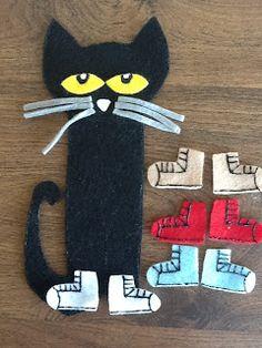 Felt Board Ideas: Pete the Cat Felt Board Story: Printable Template