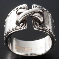 b0b62f1809 Hermes Ring In Silver. This is super cool, but it's Hermes, so it's  probably way way too expensive. I want a knockoff!