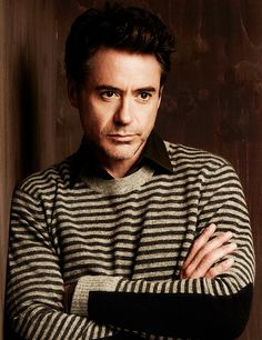 """Robert Downey Jr. """"The best time to wear a stripped sweater Is all the time!"""""""