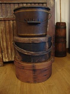 Early Antique Primitive Old Thick Pantry Box Shaker Large Wooden 1800's Aafa