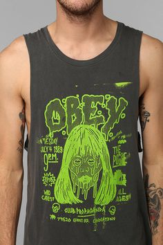 OBEY Face Merlighters Tank Top #urbanoutfitters i love guys tanks