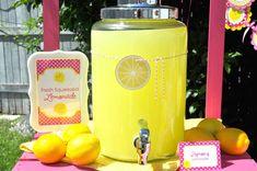 Lemonade and Sunshine Birthday Party | CatchMyParty.com