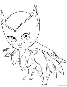 owlette from pj masks coloring page free coloring pages online