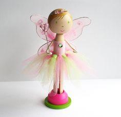 Custom Handmade Ballerina Clothespin Doll - Cake Topper. $45.00, via Etsy.