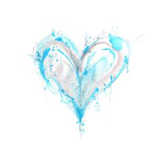 blue heart love hearts color watercolor water