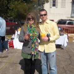 JP and Becca At Mardi Gras