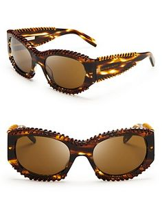 Burberry Leather Wrapped Cat Eye Sunglasses | Bloomingdale's