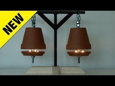 How to make a Flower Pot Heater.... this is AWESOME!! It uses tea lights to heat a whole room and will cut your electricity bill.... I have to make one!! Looks cool too!