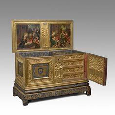 Caixa amb calaixos. El Naixement i l'Epifania. Barcelona, 1525-1550