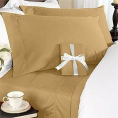"""8PC Queen 300 Thread Count Down Alternative Bed In a Bag - BROWN Sheet Set, Duvet Set & Down Alternative by Egyptian Bedding. $179.99. Beautiful Duvet Set (1 Duvet Cover, 2 Shams). 1 Flat Sheet (92"""" x 102""""), 1 Fitted Sheet (60"""" x 80"""") and 2 Standard Pillow Cases (20"""" x 30""""). True baffle box design to keep the down in place. Luxury White Down Alternative Comforter (86X86 Inches). Brand New and Factory Sealed.. This Luxury 8-Piece Bed in a Bag Down Alternative Comforter Set..."""