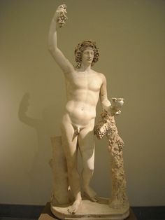 Dionysus. Late 2nd century AD reworking of an original of the 4th century BC - Naples, Archaeological Museum.