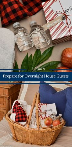 I love having house guests. To make them feel comfortable & welcomed to our home I following the following 3 steps to Prepare for Overnight House Guests.                                #GetUnderTheRim  #AD