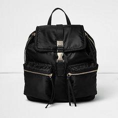 Zwarte rugzak met ritsvak - rugzakken - tassen/portemonnees - dames