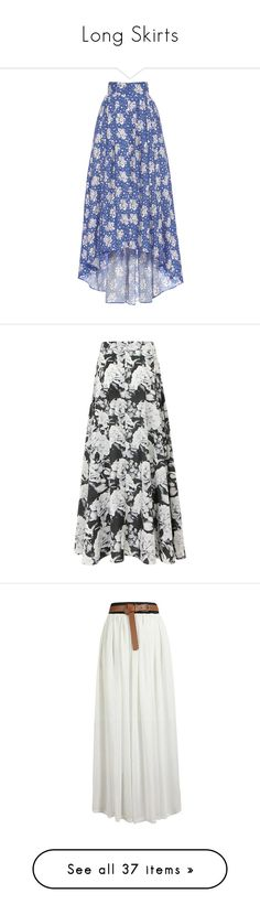 """""""Long Skirts"""" by natalialovesnutella ❤ liked on Polyvore featuring skirts, bottoms, print, high-waisted maxi skirts, long blue skirt, cotton maxi skirt, high waisted maxi skirt, high low skirt, high waisted skirts and high-waist skirt"""